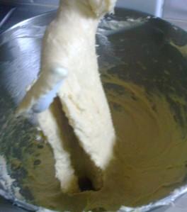 A ce stade, la pâte a encore besoin d'être pétrit.